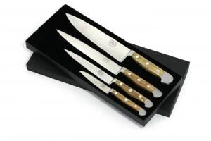 Coffret Güde 4 couteaux forgés Alpha Olive