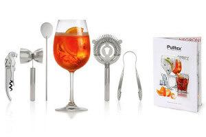 Kit cocktail 5 pièces Pulltex acier inoxydable + recettes