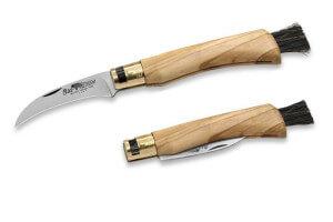 Couteau à champignons pliant Old Bear manche 11cm olivier avec virole