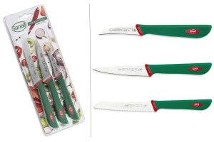 Set 3 couteaux de cuisine Sanelli Premana Professional