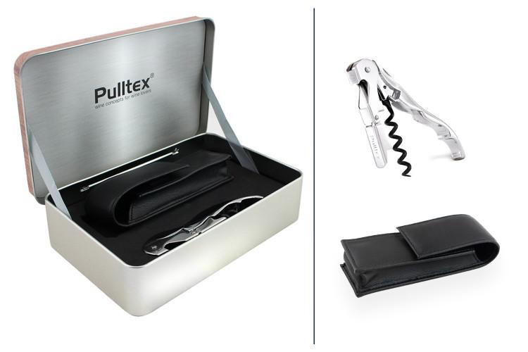 Coffret tire bouchon Pulltex + étui + boite de rangement Chrome