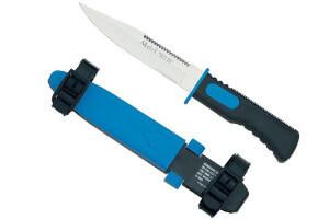Couteau de plongée Muela Marina Bleu 14cm Acier inox + étui à sangles