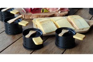 Box raclette à la bougie Cookut série limitée poêlons et spatules - 10 personnes