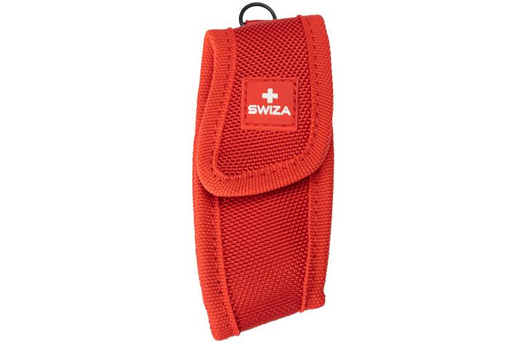 Étui rouge pour couteau multifonction SWIZA nylon
