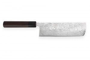 Couteau nakiri japonais artisanal Takeshi Saji R2 Damas 17cm
