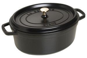 Cocotte STAUB ovale en fonte émaillée noir