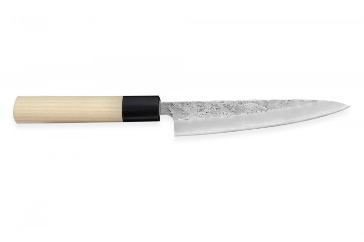 Couteau universel japonais artisanal Wusaki Yoshi G3 honoki 14cm