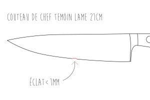 Réparation / restauration d'une lame de couteau de cuisine