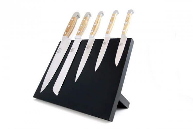 Bloc couteaux magnétique noir GÜDE en bois de hêtre vide