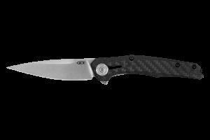 Couteau pliant Zero Tolerance ZT0707 manche fibre de carbone et titanium noir 11,7cm