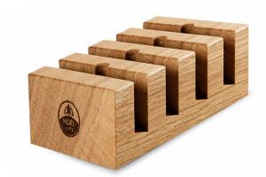 Socle de rangement pour 4 disques d'affûtage de rechange HORL® en chêne