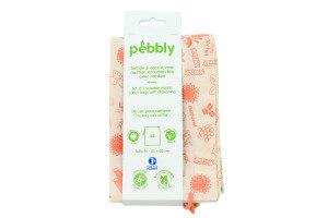 Set de 3 sacs à vrac Pebbly en coton biologique - 20x25cm