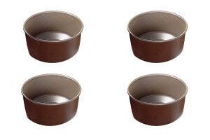 Set 4 moules à soufflés individuels Gobel diamètre 8cm