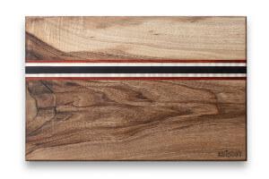 Planche à découper artisanale Kuïstot Riverside Mini en noyer 30x20x2cm