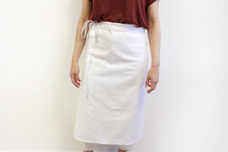 Tablier de chef professionnel 100% coton blanc 102 x 90cm