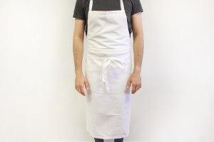 Tablier valet professionnel 100% coton blanc 100 x 100cm