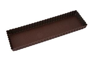 Moule à tarte maison cannelé rectangulaire Gobel avec fond fixe 35 x 11 x 2,5 cm