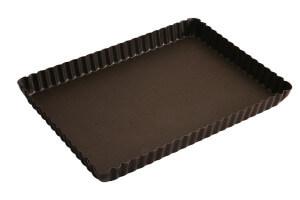 Moule à tarte maison cannelé rectangulaire Gobel avec fond fixe 29 x 20,5 x 2,5 cm