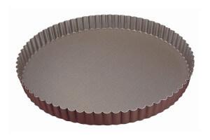 Tourtière ronde cannelée Gobel fond fixe - Diamètre 26cm