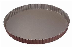 Tourtière ronde cannelée Gobel fond fixe - Diamètre 24cm