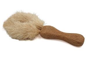Brosse à vaisselle naturelle Cookut 20cm en sisal avec manche