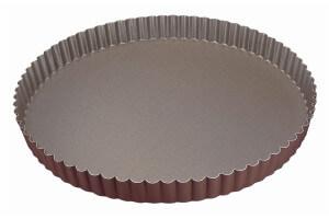 Tourtière ronde cannelée Gobel fond fixe - Diamètre 28cm