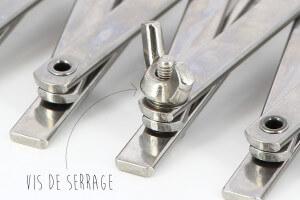 Rouleau multicoupe Mallard Ferrière métal double 5 roulettes lisses et 5 roulettes cannelées acier inox