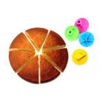Set de 4 partageurs à gâteau Cookut Party en ABS