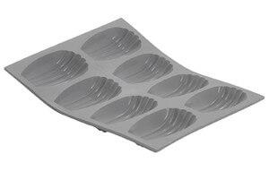 Plaque à madeleines en silicone De Buyer Elastomoule 8 ou 9 alvéoles