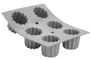 Moule à cannelés bordelais en silicone De Buyer Elastomoule 6 ou 8 alvéoles