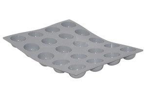 Moule mini demi sphères en silicone De Buyer Elastomoule 20 ou 24 empreintes