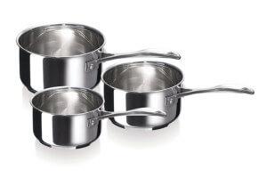 Set de 3 casseroles Beka Chef en inox 16, 18 et 20cm
