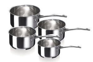 Set de 4 casseroles Beka Chef en inox 14, 16, 18 et 20cm