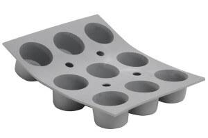 Moule à mini muffins en silicone De Buyer Elastomoule 9 ou 15 alvéoles