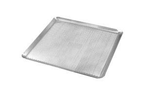 Plaque pâtissière perforée Gobel aluminium avec rebords