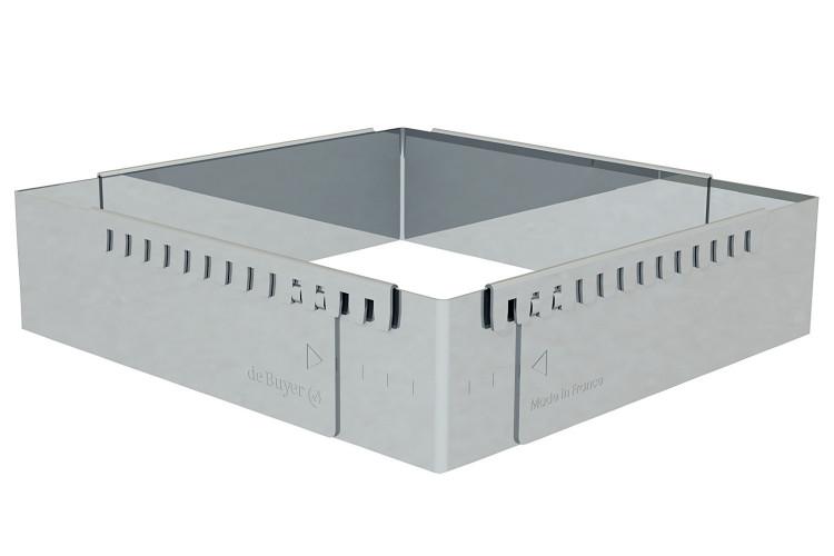 Cadre à entremets extensible rectangle De Buyer en inox