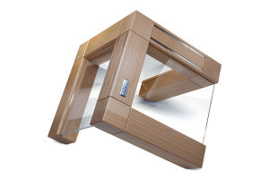 Bloc vide Artelegno Grand Prix en bois et plexiglass pour 10 couteaux de cuisine