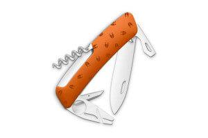 Couteau multifonction SWIZA TT03 orange cerf 11 fonctions 95mm