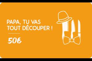 Carte cadeau 50€ Fête des pères - Faites lui plaisir !