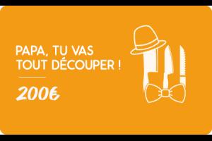 Carte cadeau 200€ Fête des pères - Faites lui plaisir !