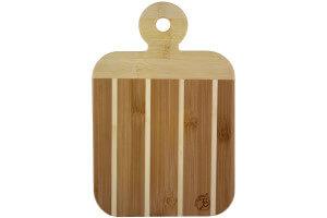 Planchette à découper bicolore Totally Bamboo 23 x 15 cm avec poignée