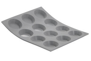 Moule en silicone De Buyer Elastomoule pour mini tartelettes rondes