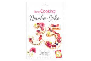 Kit number cake Scrapcooking 9 chiffres réutilisable
