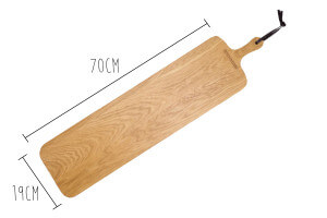 Planche à découper Dutchdeluxes XL SLIM FIT 19x70cm avec poignée