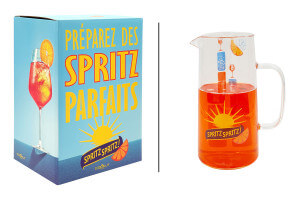 Carafe doseuse à Spritz 1L Cookut Spritz en verre