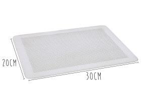 Plaque perforée en aluminium De Buyer sans rebord 1,5mm d'épaisseur