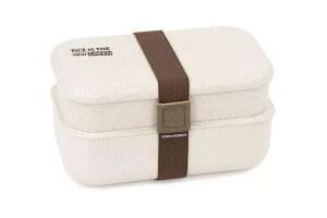 Lunch box 2 étages en fibre de riz Yoko Design 1,2L + 1 set de couverts