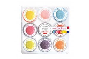 Coffret 9 mini colorants artificiels en poudre Scrapcooking 15,8g