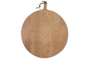 Planche à découper Dutchdeluxes XL ROUND 60x60cm chêne avec poignée
