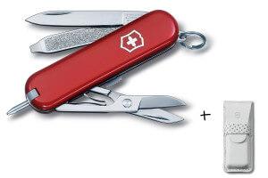 Couteau suisse Victorinox Signature rouge 58mm 8 fonctions + étui offert